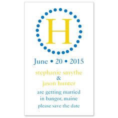 Circle Initial Save the Date Wedding Magnet | #exclusivelyweddings