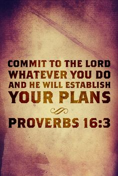 Proverbs 16:3 Prayer and Plan
