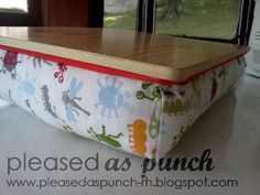 Gilbert Street Stitches: Tutorial: DIY Lap Desk - handy for doing homework in your dorm room.