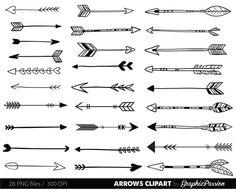 Pijlen clip art clipart tribal pijl boogschieten door GraphicPassion