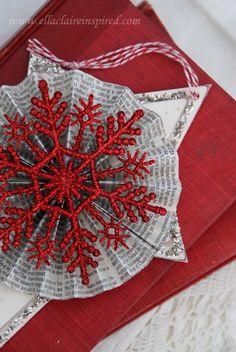 Vintage Star Handmade Christmas Ornament