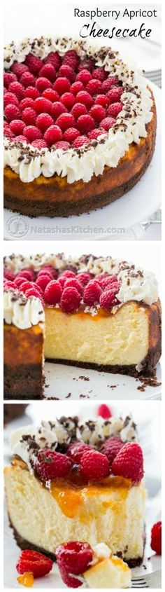 Raspberry Apricot Cheesecake with Chocolate Crust (use GF graham cracker crumbs or. Chex cereal) This is THE Ultimate Cheesecake!!! Gorgeous presentation and not difficult to make.~GF Cheryl~