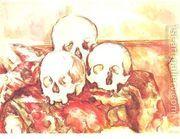 Three Skulls  by Paul Cezanne
