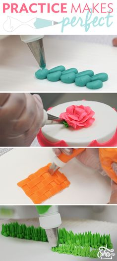 Learn how to pipe buttercream like a pro and find tutorials on how to achieve popular piping techniques. (Cake Decorating Tips And Tricks) Cake Icing, Eat Cake, Cupcake Cakes, Buttercream Icing, Buttercream Flowers, Icing Tips, Frosting Recipes, Frosting Tips, Cake Decorating Tutorials