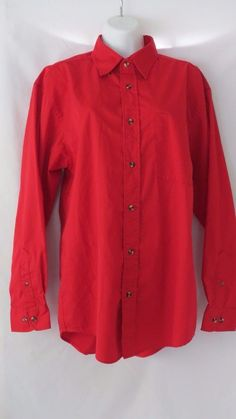 FeatherLite size S small red long sleeve botton up stain resistant shirt   #Featherlite #ButtonDownShirt #Career