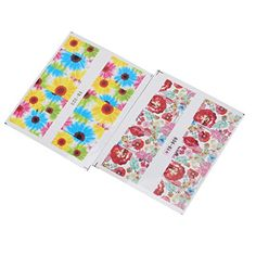 Pretty Mixed Flowers Nail Stickers Water Transfer Decals Manicure Beauty Art DIY 50 Sheets *** See this great product. Note:It is Affiliate Link to Amazon.