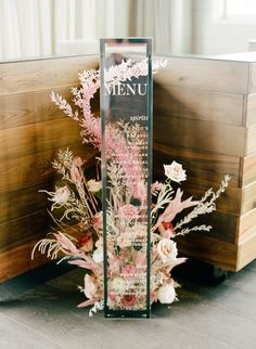 This modern Greenville wedding with feathery florals is a contemporary dreamland in hues of blush with a pop of black. We are in l-o-v-e with this bold wedding design! design black Modern Greenville Wedding with Feathery Florals & a Pop of Black ⋆ Ruffled Wedding Signage, Wedding Menu, Wedding Themes, Wedding Designs, Boho Wedding, Wedding Colors, Wedding Flowers, Wedding Planning, Dream Wedding