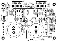 amplificador graves tda7294 subwoofer pcb componentes