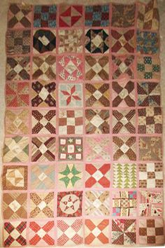 1864 original of a quilt made by a Soldier's Aid Society