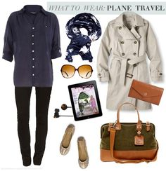 Beige / stone trench coat, navy shirt, navy and cream print scarf, black leggings, bag and ballet flats