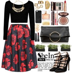 Shein by oshint on Polyvore featuring moda, Boohoo, Victoria Beckham, Adia Kibur, Rolex, Apt. 9, Charlotte Russe, Monsoon, BaubleBar and Givenchy