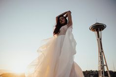 The Space Needle  The Dress Theory, Seattle  Hallie Kathryn Photography editorial fashion portrait photographer halliekathrynphoto.com insta: https://www.instagram.com/halliekathrynn/