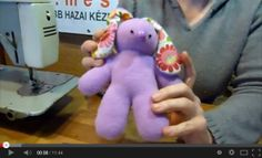 Kézműves Meska Játék nyuszi varrása youtube video Dinosaur Stuffed Animal, Toys, Youtube, Animals, Animales, Animaux, Gaming, Games, Animais