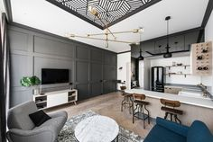 Стильная квартира площадью 49 кв. м в Вильнюсе | Пуфик - блог о дизайне интерьера