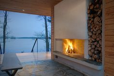 "First project in the ""Plus"" series by Finnish architects The 915 sq. ft. villa is a prototype from the PlusVillas series. It includes two bedrooms and a large living area. In addition to a traditional Finnish wood-heated sauna, the 225 sq. ft. sauna building includes a small dressing room and..."