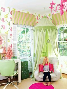 A reading nook for little girls bedroom. My New Room, My Room, Girls Bedroom, Bedroom Ideas, Bed Ideas, Kid Bedrooms, Bedroom Fun, Bedroom Decor, Nook Ideas