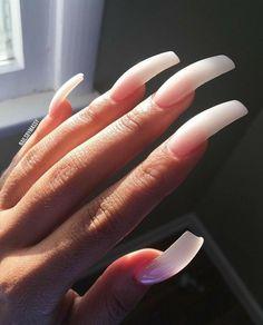 23 Beautiful Nail Art Designs for Coffin Nails - Othence Sexy Nails, Dope Nails, Classy Nails, Trendy Nails, Nails On Fleek, Curved Nails, Long Acrylic Nails, Pink Acrylics, Square Nails