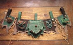 marvellous piece of work! Imaginative and beautifully crafted! Finyas leathern apron LARP by ~RoastedMoth on deviantART