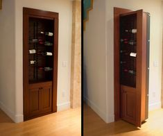 secret passageways in houses creative home engineering - this would be perfect for an entrance to a wine cellar or just even more wine storage please. Secret Space, Secret Rooms, Armoire Garage, Passage Secret, Hidden Passageways, Hidden Door Hinges, Home Engineering, Murphy Door, Hidden Safe