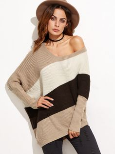 Shop Color Block Asymmetric Dolman Sleeve Sweater online. SheIn offers Color Block Asymmetric Dolman Sleeve Sweater & more to fit your fashionable needs.
