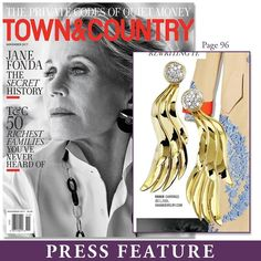PRESS FEATURE: These all gold #earrings by VAHAN are featured in November's @townandcountrymag! #VAHANstyle #VAHANinthPress #verytandc