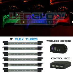 LEDGlow 6pc Million Color Flexible Under Dash Interior Lighting Kit - http://www.caraccessoriesonlinemarket.com/ledglow-6pc-million-color-flexible-under-dash-interior-lighting-kit/  #Color, #Dash, #Flexible, #Interior, #LEDGlow, #Lighting, #Million, #Under #Interior-Accessories