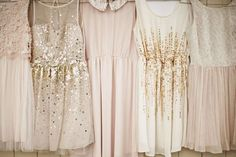Mixed dresses short with similar colors, my bridesmaids will be completely different so their dresses should be too
