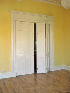 Wooden Bi Fold Panel Doors Great To Close Off Dining Room