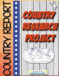 Country Report Research Project Country Report Project, Research Report, Research Projects, Summer School, Geography, Students, Ideas, Thoughts