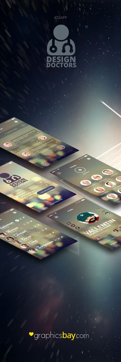 Social UI App PSD - Design Doctors Download: http://graphicsbay.com/item/social-ui-app-psd-design-doctors/362