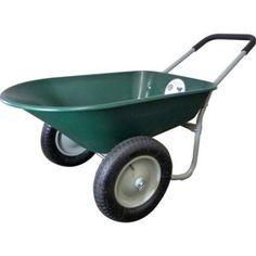 Poly Wheelbarrow Cart Garden Transport Trolley Outdoor Yard Gift 2 Wheeled Wagon…