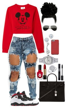 """""""Untitled #50"""" by yaritzaj ❤ liked on Polyvore featuring Forever 21, Retrò, Ray-Ban, Yves Saint Laurent, Sally Hansen, Lancôme, Kobelli, Bling Jewelry, Rolex and Christian Dior"""