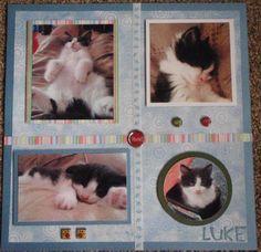 kitty scrapbook page idea