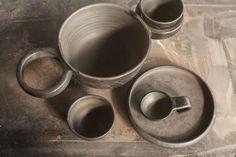 Tableware set CHEBURASHKA for Dymov Ceramics by  Lera Moiseeva and Luca Nichetto