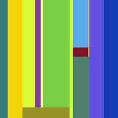 """""""mega-C"""" -  Composition en millions de couleurs. -  Le clic de votre souris sur le carré de couleur le fractionne en deux parties. Chaque compartiment affiche une nouvelle couleur. Le sens du découpage, horizontal ou vertical, ses proportions et le choix des couleurs sont définis aléatoirement. Chaque intervention sur une couleur répète la démarche. Net-art. Copyright © 07.04.2002 - Robert Cottet"""