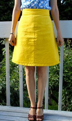 'Ginger' skirt pattern by Collette patterns