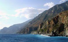 Crete Cliffs HD Wallpaper