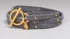 Gorjana Studded Leather Wrap Bracelet via curator Nancy Odell - Opensky $28 (49%off retail)  Join Opensky to shop and earn some cash for some of your purchases! http://osky.co/whLFHg