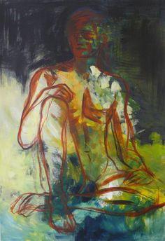 Viidakkopoika, akryyli, 70x100 cm (Katja Hynninen, 2013)