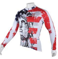 e9936f32c Invierno Otoño Hombres Jersey Ciclismo transpirable de manga larga de  bicicletas de deporte Jersey Pant Ropa