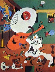 'niederländisch inneres i', öl auf leinwand von Joan Miro (1893-1983, Spain):