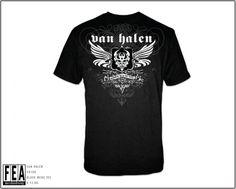 "#Van Halen"" B&W Winged Devil"" T- Shirts - Madcap Music and More.com   #Licensed  $15.95"