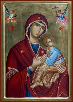 Blessed Mother Mary, Orthodox Icons, Jesus Christ, Nursing, Greece, Medical, God, Children, Painting