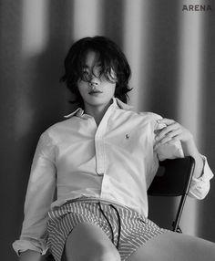 StyleKorea — Ryu Jun Yeol for Arena Homme+ Korea April Korean Fashion Men, Korean Men, Korean Actors, Ryu Joon Yeol, Anatomy Poses, Bad Boy Aesthetic, Experimental Photography, Asian Boys, Pose Reference