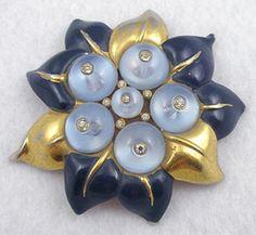 Trifari Sunflower Fur Clip - Garden Party Collection Vintage Jewelry