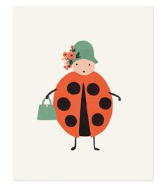 Lady bug print from Rifle Paper Co. Each print is archival printed on off-white paper. Kids Prints, Art Prints, Caterpillar Art, Art Wall Kids, Wall Art, Wall Decor, Room Decor, Rifle Paper Company, Illustrator