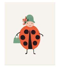 Rifle Paper Co. - Bug Print Ladybug
