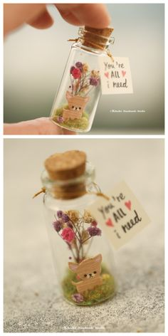 handmade dog,handmade puppy,handmade pet,Tiny message in a bottle,mini… Handmade Gifts For Girlfriend, Girlfriend Gift, Mini Glass Bottles, Bottle Charms, Message In A Bottle, Diy Christmas Ornaments, Valentine Gifts, Personalized Gifts, Messages