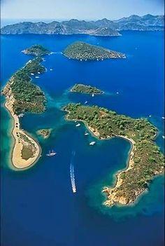 Island of Gocek, Mugla, Turkey