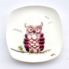 Creative Food Art Portraits by Hong Yi